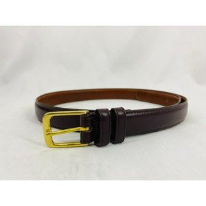 """Coach Smooth Brown Leather Belt Style # 5700 34"""" L"""